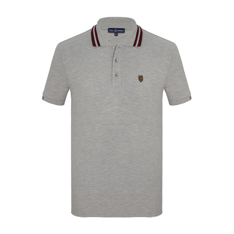 Hugh Short Sleeve Polo Shirt // Gray (S)