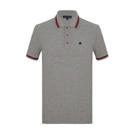 Homer Short Sleeve Polo Shirt // Gray (S)