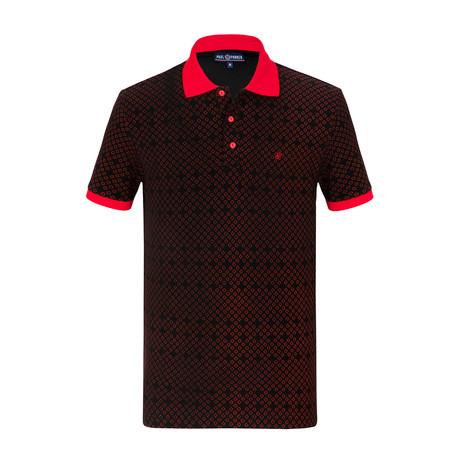Leighton Short Sleeve Polo Shirt // Black (S)