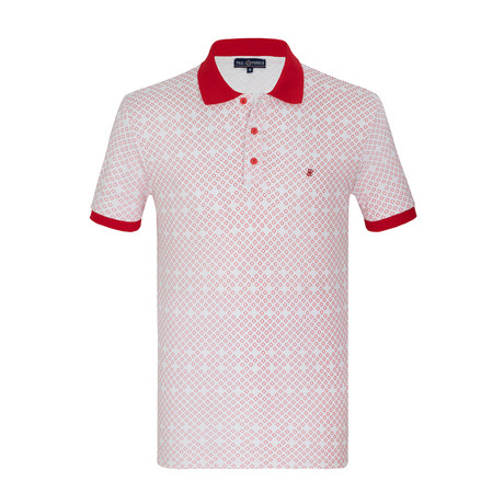 Jamal Short Sleeve Polo Shirt // White (S)