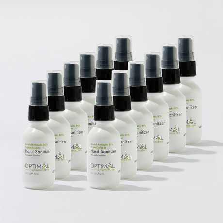 12 Pack // 80% Ethyl Alcohol Hand Sanitizer Spray // 2 Oz.
