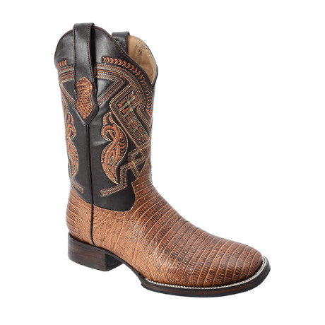 Rodeo Square Boot Armadillo Print // Honey (US: 7EE)