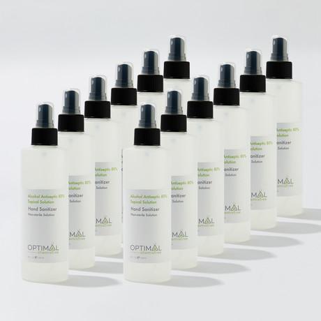 12 Pack // 80% Ethyl Alcohol Hand Sanitizer Spray // 8 Oz.