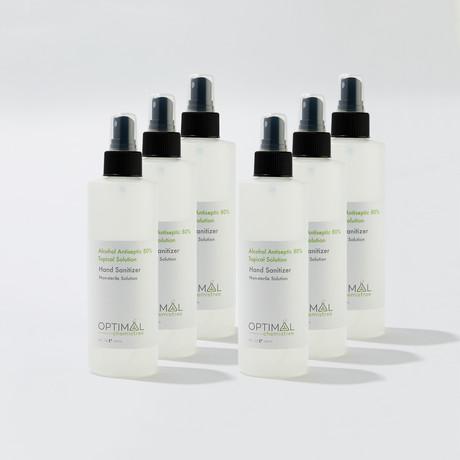 6 Pack // 80% Ethyl Alcohol Hand Sanitizer Spray // 8 Oz.