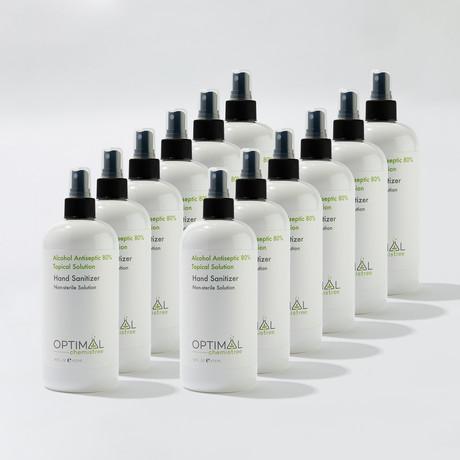 12 Pack // 80% Ethyl Alcohol Hand Sanitizer Spray // 16 Oz.