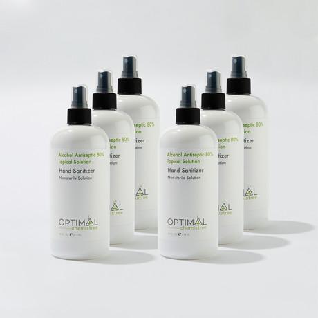 6 Pack // 80% Ethyl Alcohol Hand Sanitizer Spray // 16 Oz.