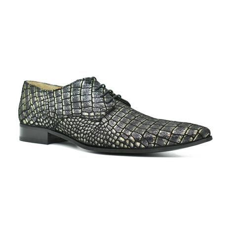 Dress Shoes // Black Crocodile (Euro: 39)