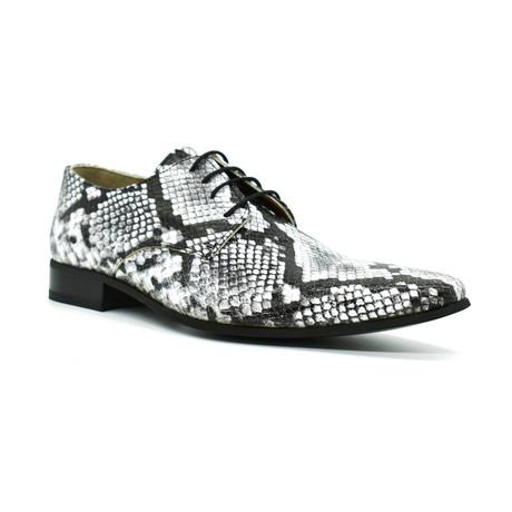 Dress Shoes // White + Black Snake (Euro: 39)
