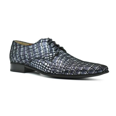 Dress Shoes // Blue Crocodile (Euro: 39)