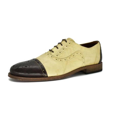 Dress Shoes // Black + Beige (Euro: 39)