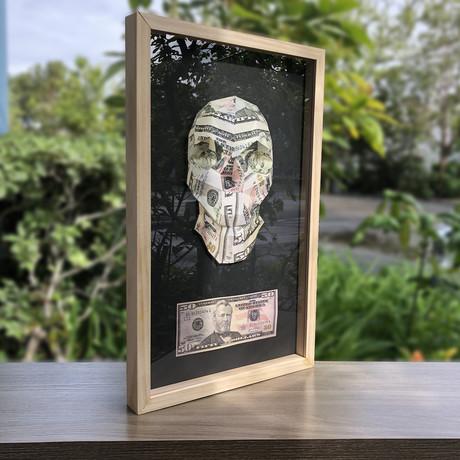 Framed Print // Money Skull $50