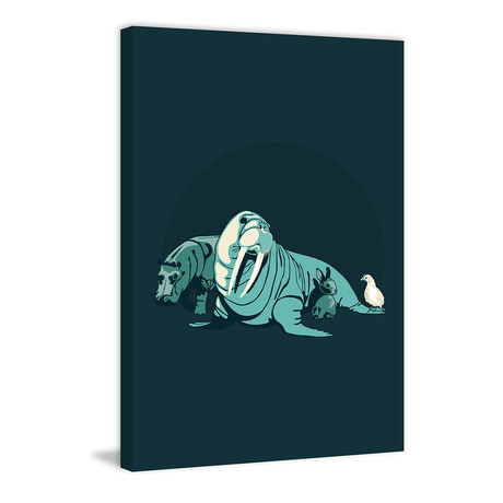 """Walrus // Painting Print on Wrapped Canvas (8""""W x 12""""H x 1.5""""D)"""