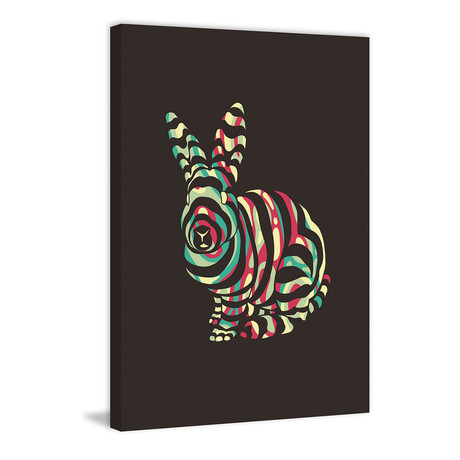 """Rabbit // Painting Print on Wrapped Canvas (8""""W x 12""""H x 1.5""""D)"""