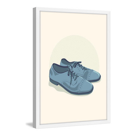 """Blue Suede // Framed Painting Print (8""""W x 12""""H x 1.5""""D)"""