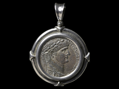 photo of Large Roman Silver Coin Of Nero by Touch Of Modern