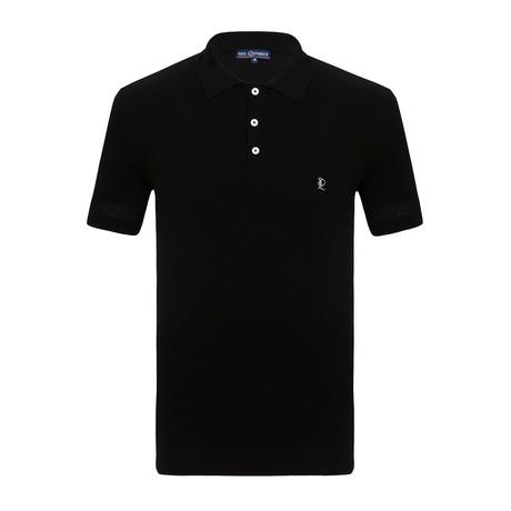 Fabinho Short Sleeve Polo Shirt // Black (S)