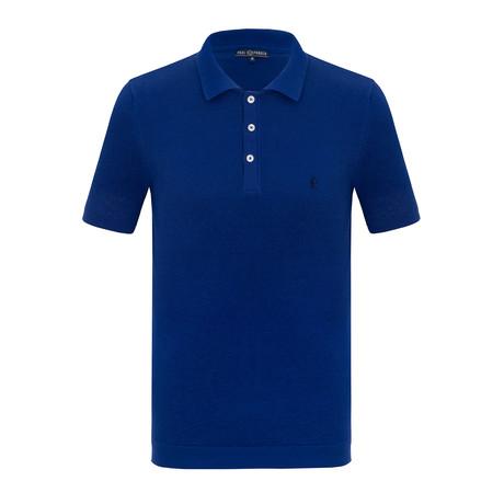 Yasser Short Sleeve Polo Shirt // Sax (S)