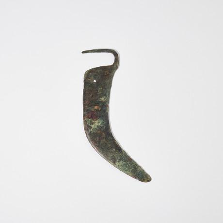 Ancient Celtic Bronze Sickle Blade