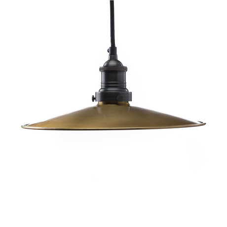Brass Plate Shade +  Canopy (Steel Canopy)