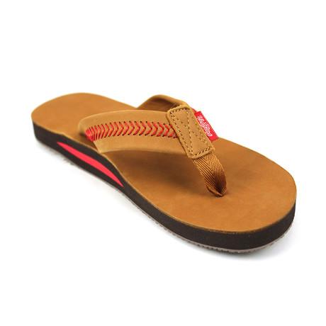 Baseball Stitch Leather Sandal // Camel (US Men's 8-9)