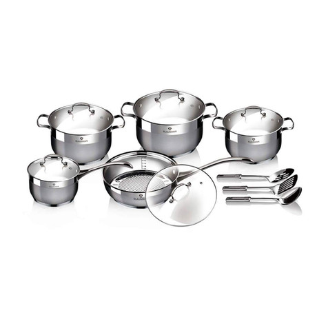 13-Piece Stainless Steel Blaumann Cookware Set