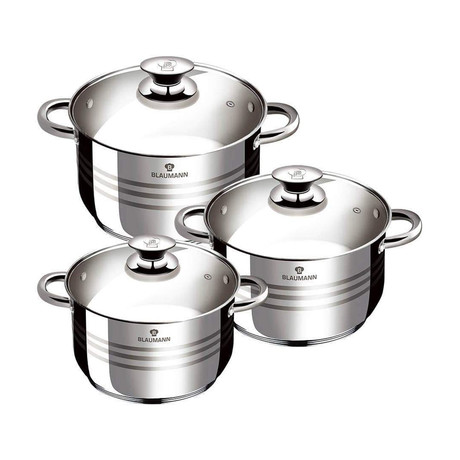 6-Piece Stainless Steel Blaumann Casserole Set
