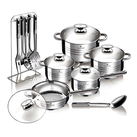 17-Piece Stainless Steel Blaumann Cookware Set