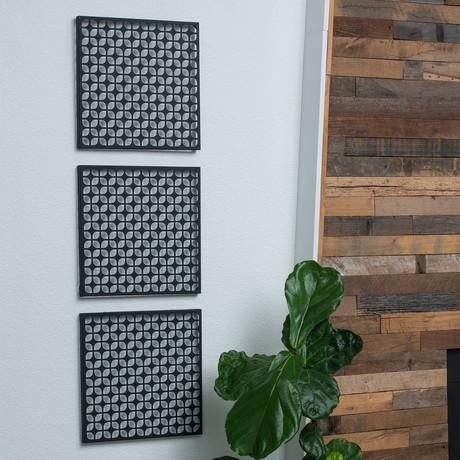 """Breeze Block 15.5"""" Wall Tile // Set of 2 (Matte White)"""