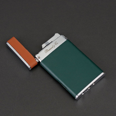 Sotille Elegant and Ultra Thin Torch Lighter // Limited Edition // Augusta Green Italian Leather
