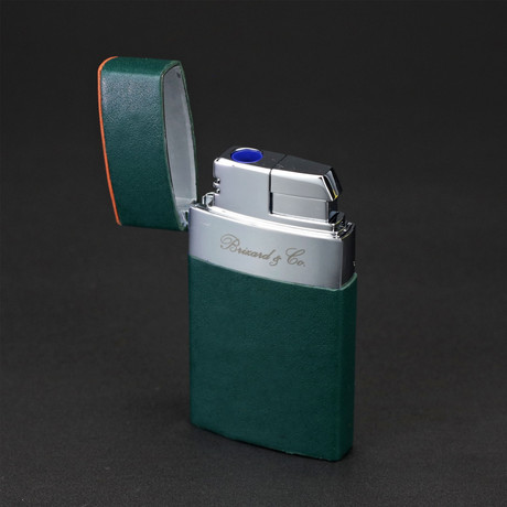 Venezia Fountain Flame Torch Lighter // Limited Edition // Augusta Green Italian Leather