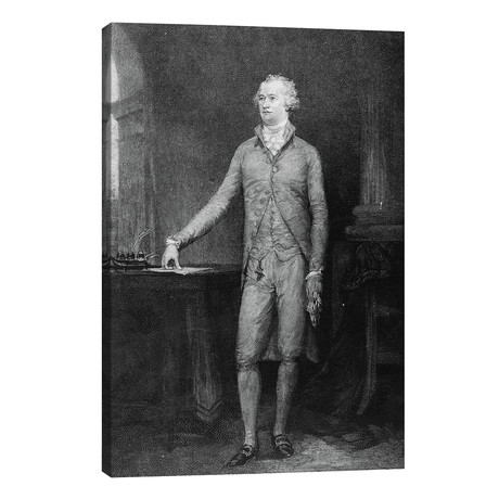 """Alexander Hamilton, after the painting of 1792 // John Trumbull (26""""W x 40""""H x 1.5""""D)"""