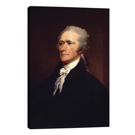 "Painting Of Founding Father Alexander Hamilton // John Parrot (26""W x 40""H x 1.5""D)"