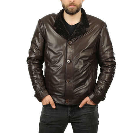 Canyon Leather Jacket // Brown (XS)