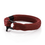 "Oceans Shackle Bracelet // Black + Maroon (7.1"")"