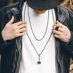 Malleum Pendant + Necklace // Matte Black