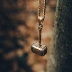 Malleum Pendant + Necklace // Gold