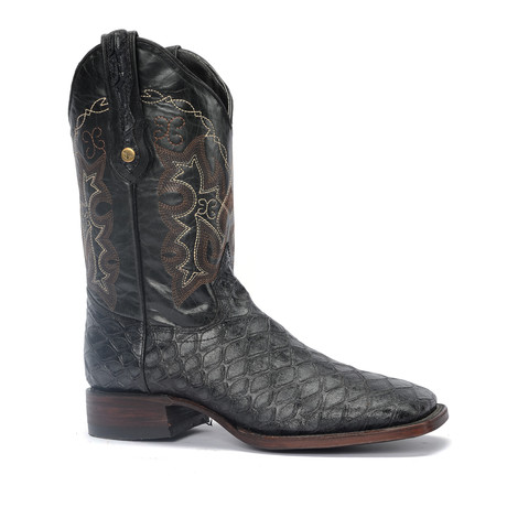 Rodeo Square Boot Ant Eater Print // Black (US: 7EE)