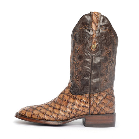 Rodeo Square Boot Ant Eater Print // Brown (US: 7EE)