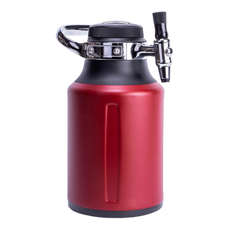 uKeg Go // Chili Red + 10 CO2 Cartridges // 64oz