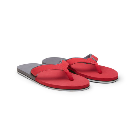 Piers Crew Flip Flops // Red + Charcoal (US: 8)