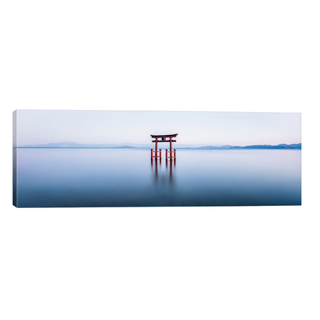 "Floating Torii Gate At Lake Biwa, Japan // Jan Becke (60""W x 20""H x 0.75""D)"