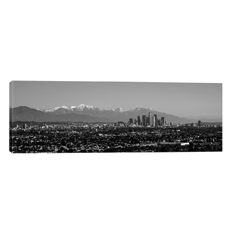 "High-Angle View Of A City, Los Angeles, California, USA // Panoramic Images (60""W x 20""H x 0.75""D)"