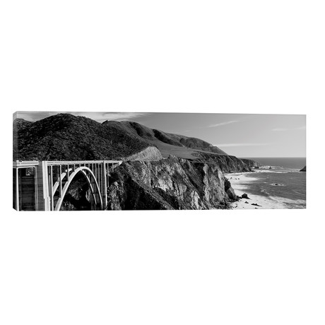 "Bixby Creek Bridge, Big Sur, California, USA // Panoramic Images (60""W x 20""H x 0.75""D)"