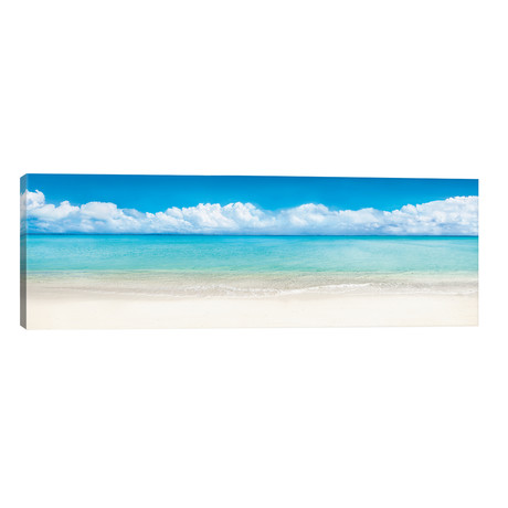 "Beach Panorama, Bora Bora, French Polynesia // Jan Becke (60""W x 20""H x 0.75""D)"