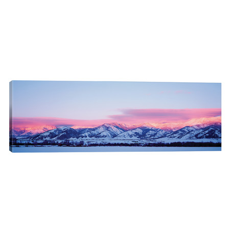 "Bridger Mountains, Sunset, Bozeman, MT, USA // Panoramic Images (60""W x 20""H x 0.75""D)"