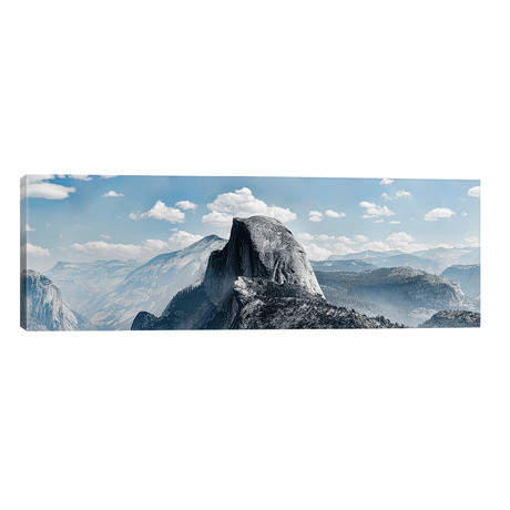 "Scenic View Of Rock Formations, Half Dome, Yosemite Valley, Yosemite National Park, CA, USA // Panoramic Images (60""W x 20""H x 0.75""D)"