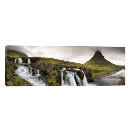 "Kirkjufellsfoss Panorama // Danny Head (60""W x 20""H x 0.75""D)"