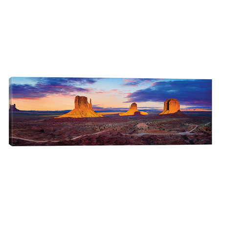 "Sunset Monument Valley // Susanne Kremer (60""W x 20""H x 0.75""D)"