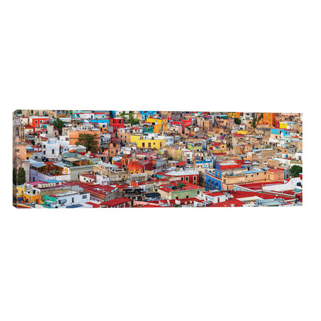 "View of colorful city of Guanajuato in Mexico // Panoramic Images (60""W x 20""H x 0.75""D)"