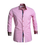 Paisley Reversible Cuff Button Down Shirt // Pink (S)